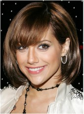 Custom Top Quality Short Mixed Color Bob Bangs Hairstyle Human Remy Hair Wigs