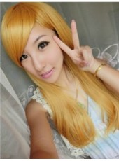 Charming Gold Color  Length Straight  Lolita Wig About 22 Inches
