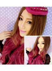 Prompt Goods Harajuku Mixed Color Wavy Hair Lolita Cosplay Wig 28 Inches