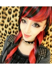 Daily Lolita Harajuku Punk Mixed Color Cosplay Wig