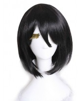 Attack On Titan Three Dai li Ackerman Black Bobo Cosplay Wig