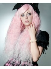 Sweetly Fluffy Light Pink Lolita Puff  Wig About 80cm