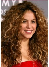 150% Human Hair Density Shakira Long Ombre Curly Lace Front Fuller Natural Soft Wigs