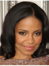 Glueless Lace Shoulder Loose Wave Sanaa Lathan Hairstyle African American Wigs For Black Women