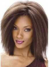 Custom 150% Density Medium Fuller Human Remy Hair Straight Kinky Top Quality Wigs