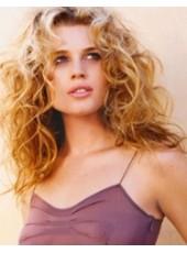 "18"" Ombre Golden Long Rebecca Romijn Deep Wave 130% Density Human Hair Wigs"