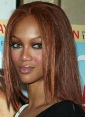 Best Quality Silky Straight Human Hair Tyra Banks Highlights Medium Brown Wigs