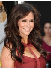 Custom Celebrity Jennifer Long Deep Wave Brown Human Hair Wigs About 22 Inches