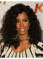 Honorable Celebrity Kelly Rowland's Long Curly Hairstyle African American Hair Wigs For Black Women