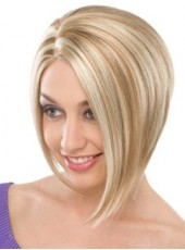 Sweetheart Attractive Short Mixed Color Fashion Lady's Bob Hairstyle Lace Front Synthetic Wig About 10 Inches