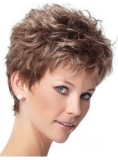 Custom Celebrity Eva Gabor Short Gradient Color Wavy Bouncy Hairstyle Top Quality Capless Synthetic Wig