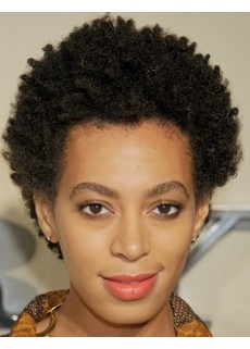 Custom Top Quality Full Lace Unique Short Black Curly Hairstyle 100% African American Hair Wig About 4 Inches