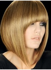 Impressive Top Quality Synthetic Hair Bright Brown Short Charming Bob Hairstyle Capless Wig