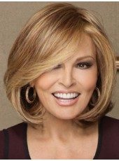 Celebrity Raquel Welch Short Brown Bob Hairstyle Capless Synthetic Top Quality Popular Wig