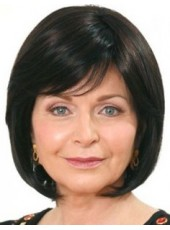 Latest Pure Black Short Oblique Bangs Bob Mature Lady Hairstyle Capless Human Remy Hair Wig About 12 Inches