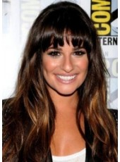 Lea Michele Hairstyle Capless African American Hairstyle Top Quality Wig For Sexy Ladies About 22 Inches