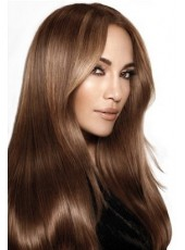 Charming Jennifer Lopez Long Smooth Straight 100% Virgin Human Hair Full Lace Wig about 24 Inches