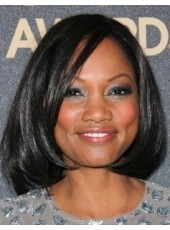 Simple Smart Fascinating Short Wavy Synthetic Hair African American Hairstyle about 14 Inches