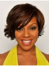 Beautiful Wendy Raquel Robinson Style Wavy Synthetic Wig About 8 Inches