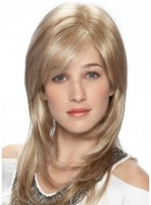 Top Quality 100% Human Hair Long Elegant Submissive Straight Hairstyle Popular Wig About 20 Inches