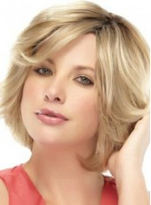 Sweetheart Mixed Color Short Wavy Bouncy Venation Hairstyle Glueless Lace Front Wig About 12 Inches