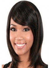 Soft Hairstyle Synthetic Hair Capless Wigs About 14 Inches