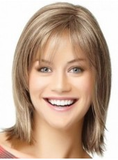 Impressive Short Coffee Submissive Straight Capless Top Quality Wig About 12 Inches