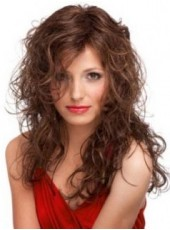 Polish Dark Brown Sexy Long Wavy Top Quality Synthetic Wig About 24 Inches