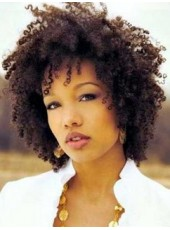 Natural Kinky Hairstyle for Black Women About 12 Inches