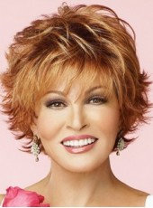 Charming Raquel Welch Hairstyle Short Synthetic Capless Wigs About 8 Inches