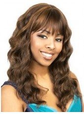 Chic  African American Hairstyle Wavy Capless Synthetic  Wigs About  22 Inches