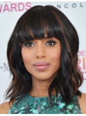 Kerry Washington Wavy Hairstyle Capless Wigs About 14 Inches