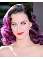 100% Human Remy Hair Katy Perry's Unique Medium Deep Wave Ombre Lace Front Wigs