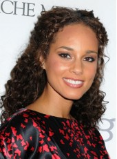 Celebrity Alicia Keys Long Curly Hairstyle Glueless Full Lace Wigs For Black Women