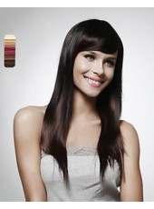 Charming Straight Top Quality Beautiful Color Long 100% Human Hair Capless Wig About 20 Inches