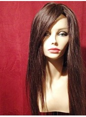 Top Quality Super Long Soft Hair 100% Human Hair Capless Wig About 24 Inches