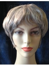 Chic Short Hairstyle 100% Human Hair Capless Wig About 8 Inches