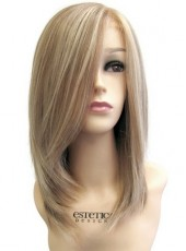 Top Quality Soft And Charming  Should Length Straight 100 Human Hair Capless Wig About 16 Inches