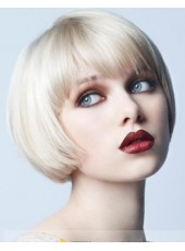 New Arrival Careful Cut  Short Blonde Female Straight Vogue Wigs About 10 Inches