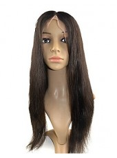 Silky Straight Hair Full Lace 100% Indian Remy Hair Wigs About 20 Inches