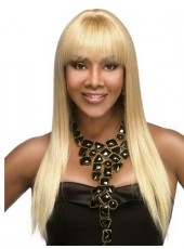 Charming Long Straight 100% Virgin Hair Blonde Color  22'' For Black Woman