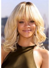 Top Quality Ombre Hair Rihanna Hairstyle 100% Human Hair Wig About 12 Inches
