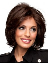 High Quality Short Wavy 100% Human Hair Full Lace Wigs About 12 Inches