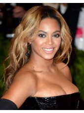Beyonce Hairstyle  Body Wavy  Highlight  Color Full Lace Cap Human Hair  Wigs