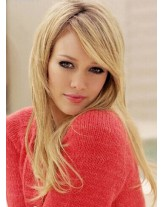 Sweetheart Hairstyle Long Straight Blonde Color 100% Human Hair Wigs