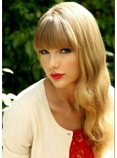 Charming High Quality  Taylor Swift Body Wavy Hairstyle 100% Human Hair Wigs