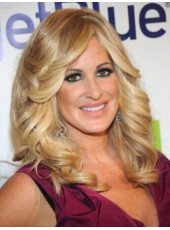 Kim Zolciak Hairstyle Super Wavy Ombre Color 100% Human Hair Wigs