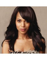 Charming Kerry Washington Wavy Hairstyle Capless Human Hair Wigs About 22 Inches