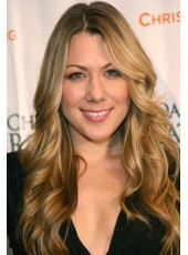 High Quality Colbie Caillat Hairstyle Mix Color  Wavy Full Lace Human Hair Wigs