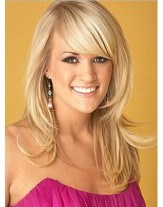 Carrie Underwood Celebrity Hairstyle Long Straight Human Hair Wigs About  20 Inches